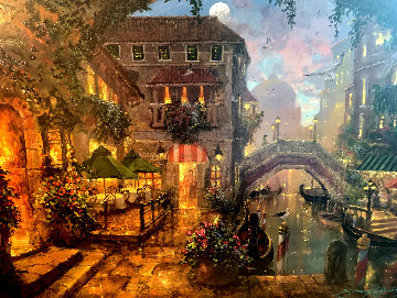 Venice Twilight Embellished Limited Edition Print - James Coleman