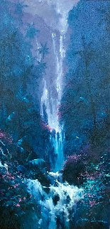 Evening Paradise 45x27 Huge Original Painting - James Coleman