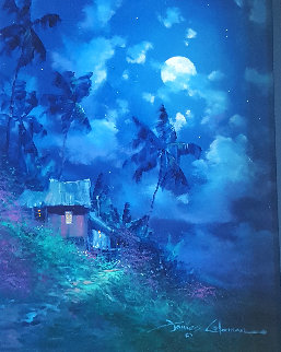 Dreams of Blue 1995 26x22 Original Painting - James Coleman