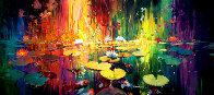 Soft Light on a Pond 2018 Embellished Limited Edition Print by James Coleman - 0