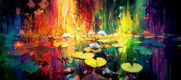 Soft Light on a Pond 2018 Embellished Limited Edition Print by James Coleman