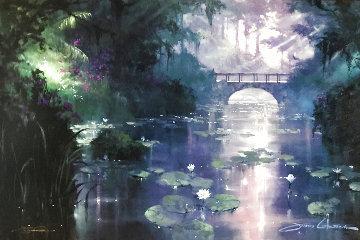 Bridge Over Silent Water 1999 Embellished  Limited Edition Print - James Coleman
