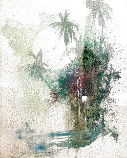 Moonlit Waters Watercolor 2006 27x23 Watercolor - James Coleman
