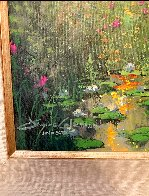 Low Country Lily's 2006 22x28 Original Painting by James Coleman - 4