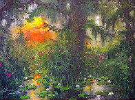 Low Country Lily's 2006 22x28 Original Painting by James Coleman - 0