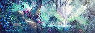 Along a Mystical Path 2000 20x48 Super Huge Original Painting by James Coleman - 0