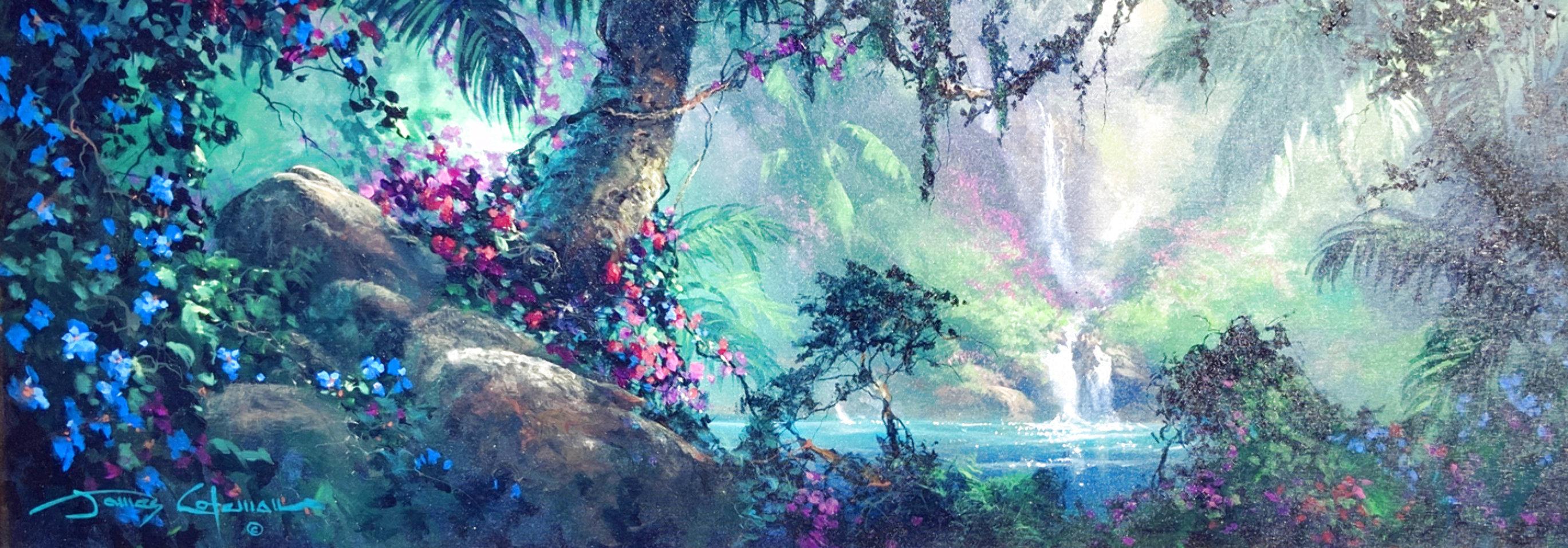 Along a Mystical Path 2000 20x48 Huge Original Painting by James Coleman