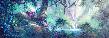 Along a Mystical Path 2000 20x48 Huge Original Painting - James Coleman