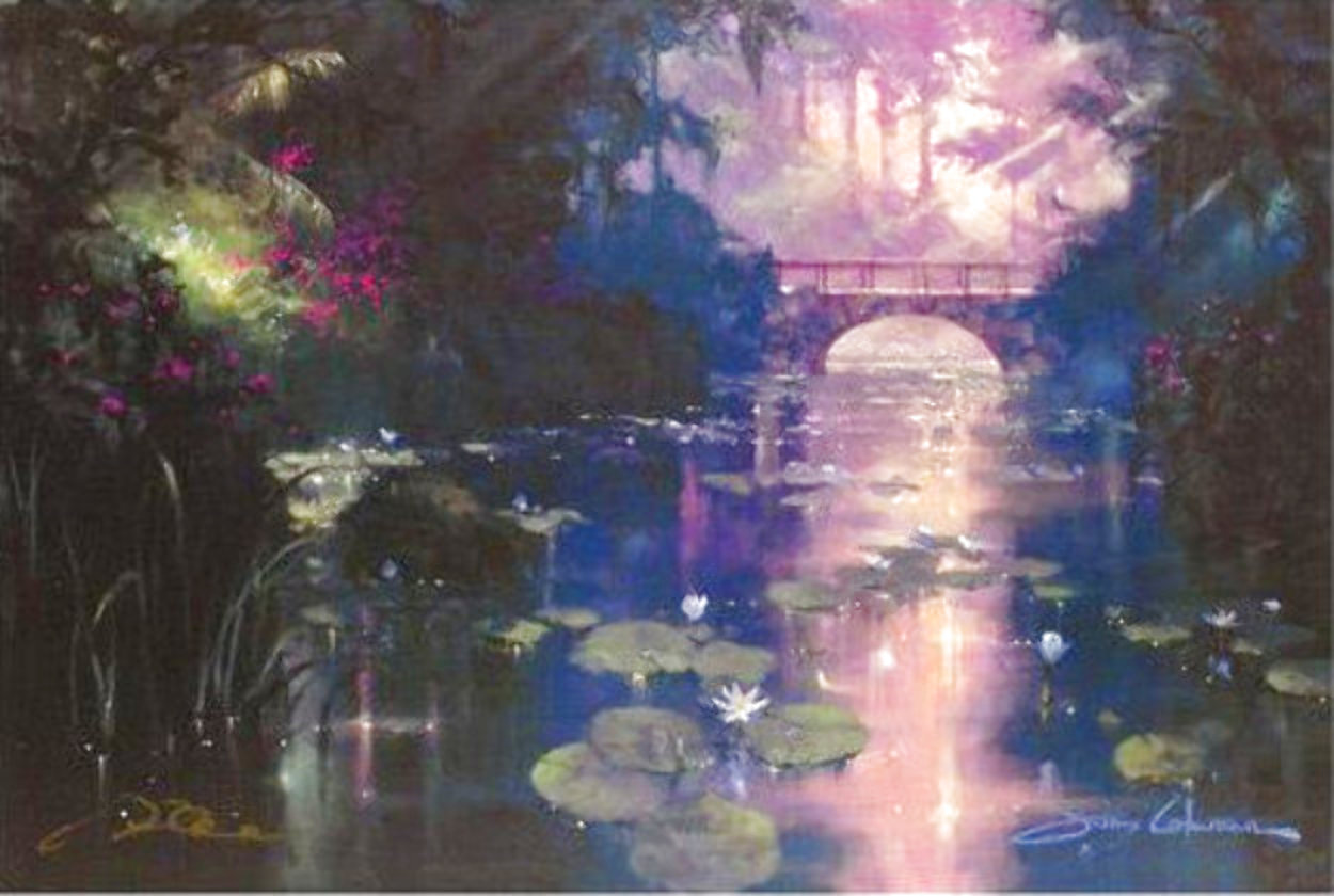 Bridge Over Silent Waters - Huge 30x44 Limited Edition Print by James Coleman