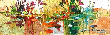 Giverny in Gold 8x24 Original Painting - James Coleman