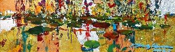 Gold And Lillies 8x24 Original Painting - James Coleman