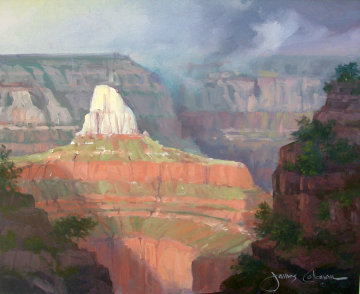 Zoroester Temple, Grand Canyon,  1993 20x24 Utah Original Painting by James Coleman