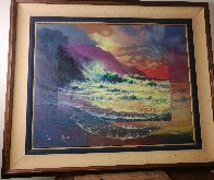 Perfect Surf 1998 30x36 Original Painting by James Coleman - 2