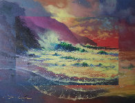 Perfect Surf 1998 30x36 Original Painting by James Coleman - 0