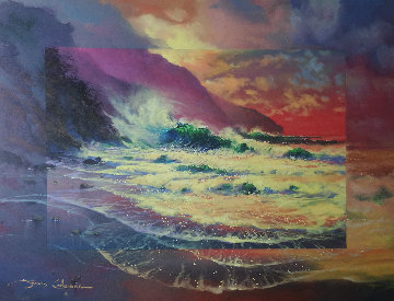 Perfect Surf 1998 30x36 Original Painting by James Coleman