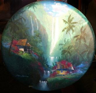 Tropical Paradise 1993 26x26 Original Painting by James Coleman