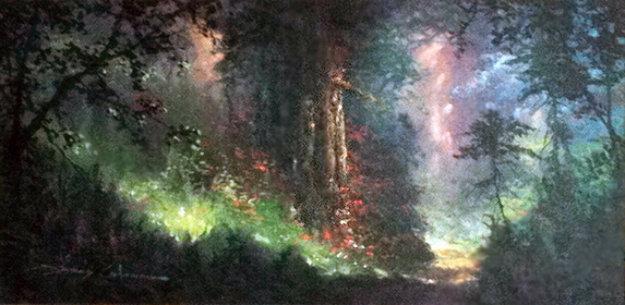 Nature's Garden 1998 23x38 Original Painting by James Coleman