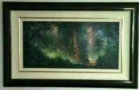 Nature's Garden 1998 23x38 Original Painting by James Coleman - 1