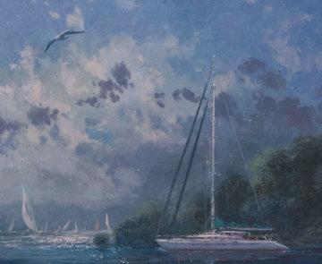 Through the Channel 2005 35x39 Super Huge Original Painting - James Coleman