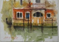 Venice, Italy  Reflection Watercolor 2012 Watercolor by James Coleman - 1