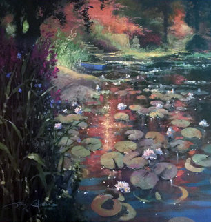In the Stillness of Beauty 2004 42x42 Original Painting by James Coleman