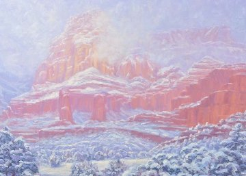 Spring Snow 1990 50x40 Original Painting - Michael Coleman