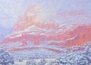 Spring Snow 1990 50x40 Huge Original Painting - Michael Coleman
