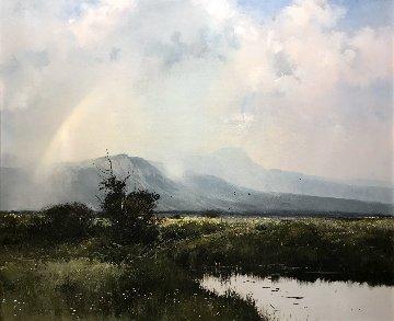Summer Showers 1977 38x44 Super Huge Original Painting - Michael Coleman