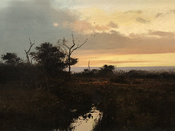 Evening Glow 1974 24x30 Original Painting - Michael Coleman