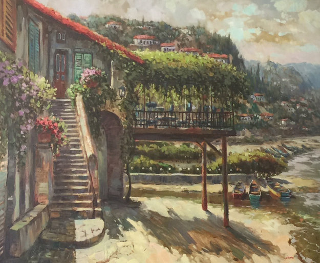 Veranda 38x44 Original Painting by Victor Colesnicenco
