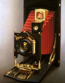 Red Bellows ER Camera 55x45 Super Huge Original Painting - Thomas R Colletta