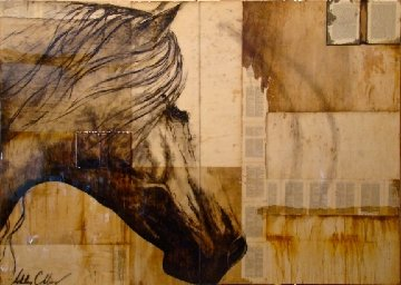 Treasure 2011 60x84 Huge  Original Painting - Ashley Collins