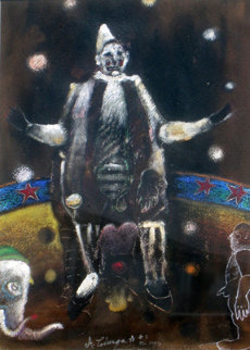 El Circo #2 18x14 Original Painting - Alejandro Colunga