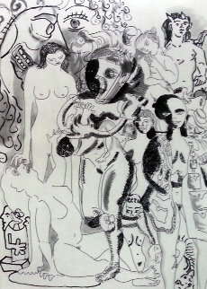 Pages De Garde  End Papers,  1998 Etchings  Limited Edition Print - George Condo