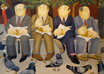 Lunch in the Garden 2002 Limited Edition Print - Beryl Cook