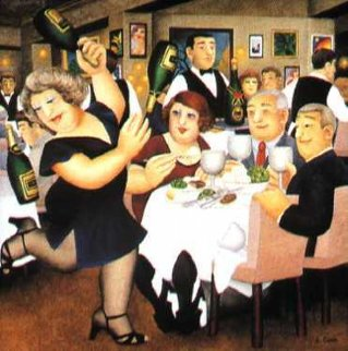 Dining Out 1970 Limited Edition Print - Beryl Cook