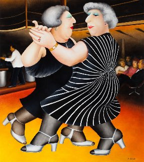Dancing on the QE2 1980 Limited Edition Print by Beryl Cook