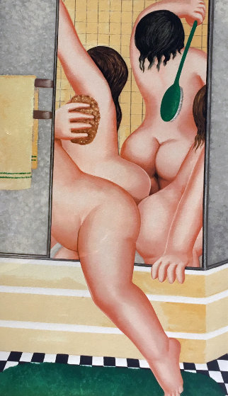 A Bathroom 1987 Limited Edition Print by Beryl Cook