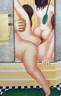 A Bathroom 1987 Limited Edition Print - Beryl Cook