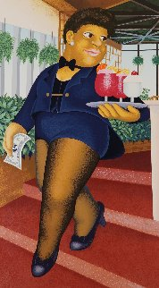 Cocktail For Three Limited Edition Print by Beryl Cook
