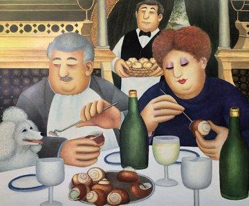 Escargot Pour Trois 2002 Limited Edition Print - Beryl Cook