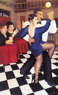 Tango in Bar 1995 Limited Edition Print - Beryl Cook