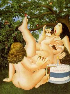 Birthday Cake 2005 Limited Edition Print - Beryl Cook