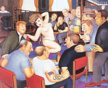 Lunchtime Refreshment 1988 Limited Edition Print by Beryl Cook