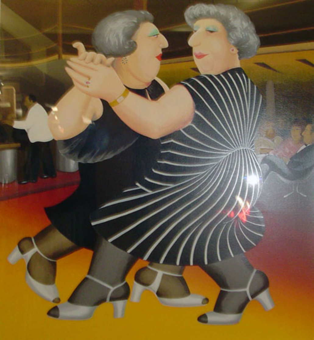 Dancing on the QE 2 1988 Limited Edition Print by Beryl Cook