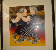 Dancing on the QE 2 1988 Limited Edition Print by Beryl Cook - 1