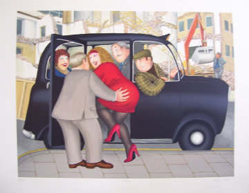 Taxi Limited Edition Print by Beryl Cook