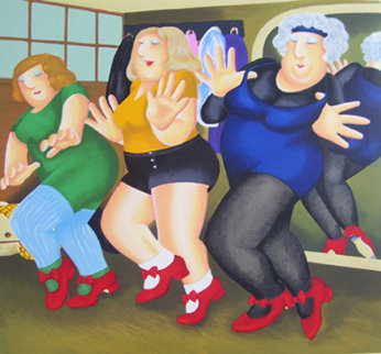 Dancing Class 2000 Limited Edition Print by Beryl Cook