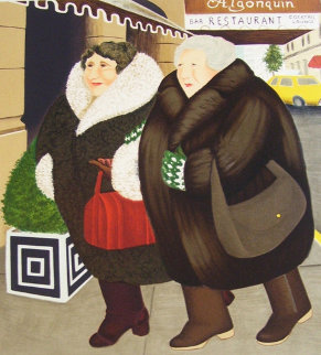 Bar and Barbara 2002 Limited Edition Print by Beryl Cook