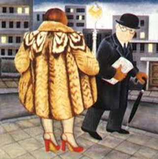 My Fur Coat 1988 Limited Edition Print by Beryl Cook